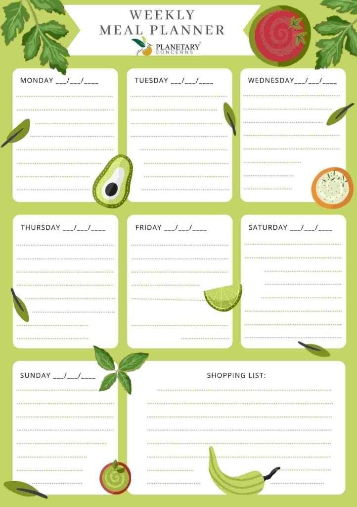 weekly-meal-planner-food-waste--planetary-concerns